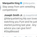 Marquette King advice on arm wrestling
